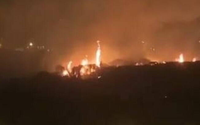 Fogo na mata nativa atinge parte da Ambev em Jaguariúna