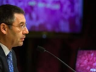 Josep Bartomeu assumiu a presidência do Barcelona após a saída de Sandro Rosell