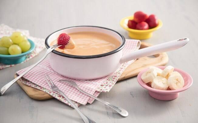 fondue de doce de leite