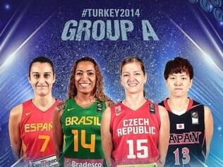 Grupo A promete dificuldades à seleção brasileira feminina de basquete