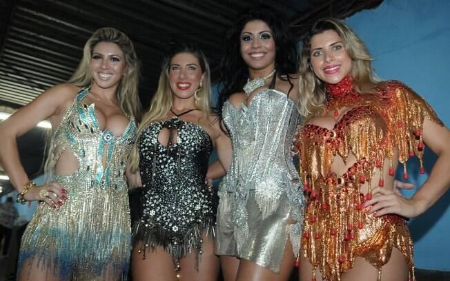 Musas das escolas de samba de São Paulo participaram do lançamento do CD do carnaval 2012