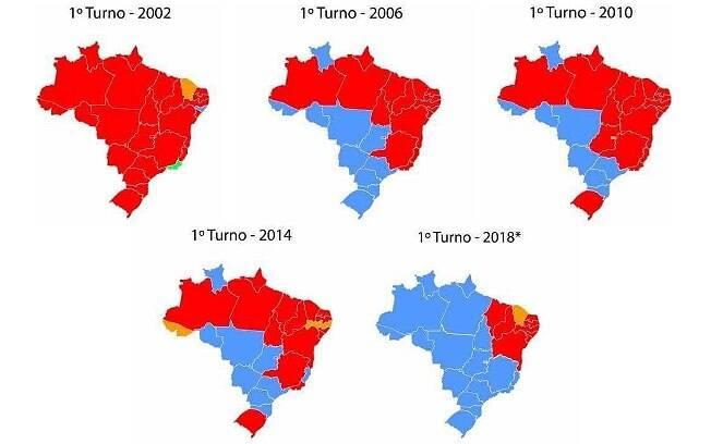 PT em queda nos últimos 16 anos