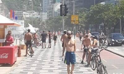 E o isolamento? Dia de sol leva população do Rio às ruas