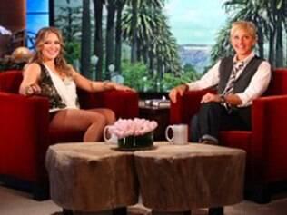 Hilary Duff contou à Ellen DeGeneres que está grávida de um menino
