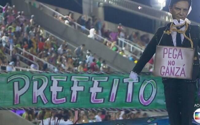 Protesto da Mangueira contra o prefeito Crivella