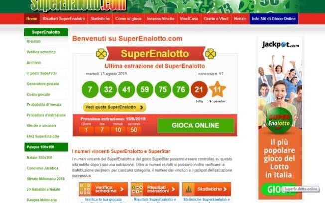 Valor do prêmio é maior da história da loteria na Italia e em toda a Europa