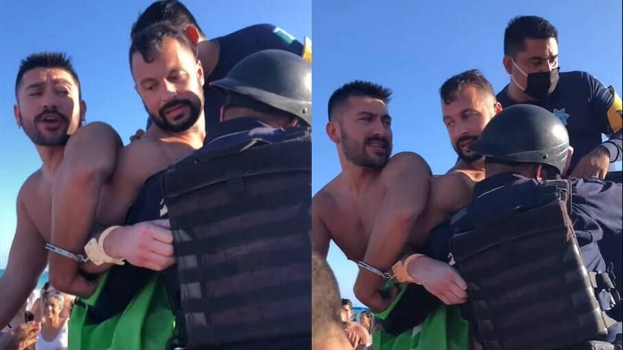 Homens gays são detidos por se beijarem em praia