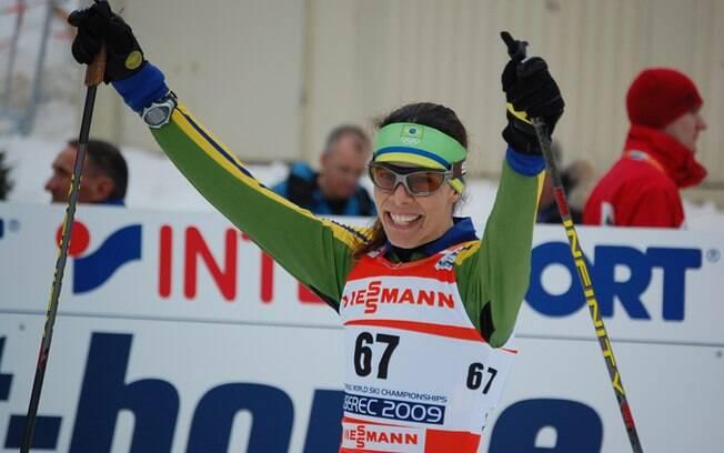 Além de vaga no esqui cross-country,  Jaqueline tenta ser a primeira brasileira no  biatlo nas Olimpíadas de Inverno