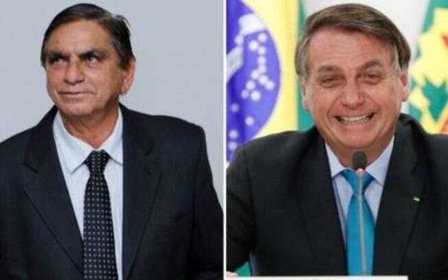 Bolsonaldo (esquerda) e o presidente Jair Bolsonaro (direita)