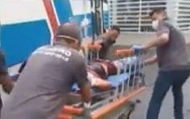 Vítimas foram levadas ao Hospital Rocha Faria