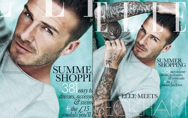 David Beckham é o primeiro homem a estampar a capa da revista 'Elle'