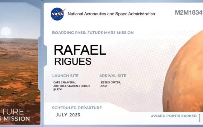 Nasa abre registro para enviar seu nome a Marte