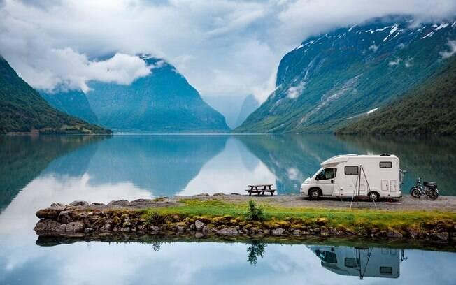 Os motorhomes (ou trailers) são muito utilizados pelos norte-americanos durante as férias