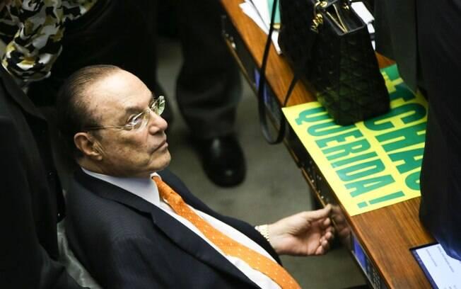 Paulo Maluf acompanha votação na Câmara. Foto: Marcelo Camargo/ Agência Brasil 17.04.16