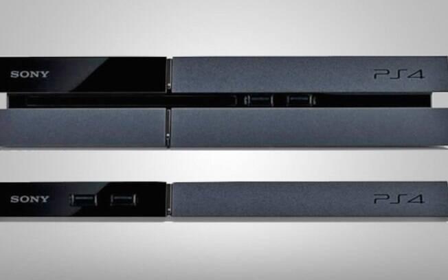 PS4 Slim (abaixo) será versão menor do console original (acima)