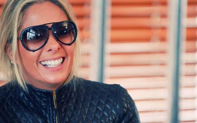 Adriane Galisteu na entrevista coletiva da