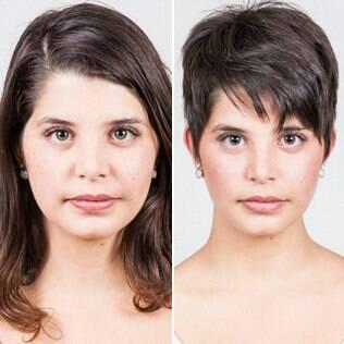 Antes e depois: Elisa adotou o corte joãozinho