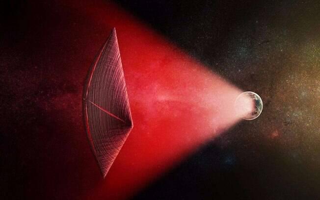 Protótipo do suposto grande veleiro alienígena transmissor de Rajadas Rápidas de Rádio foi desenhado por artista