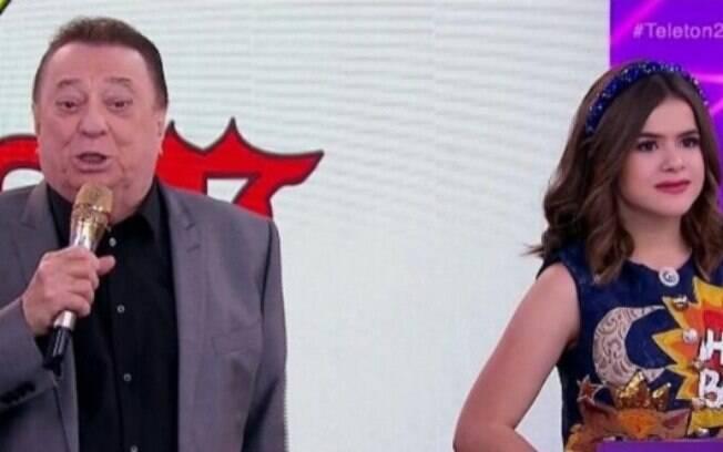 Raul Gil e Maísa protagonizaram climão em