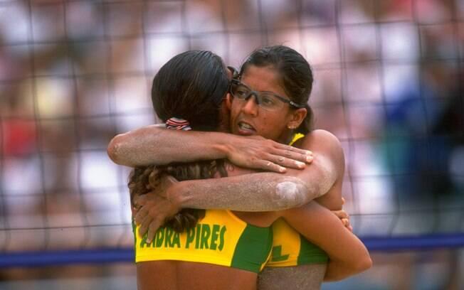 Jacqueline e Sandra foram as primeiras  mulheres a ganhar uma medalha para o Brasil em  Jogos Olímpicos