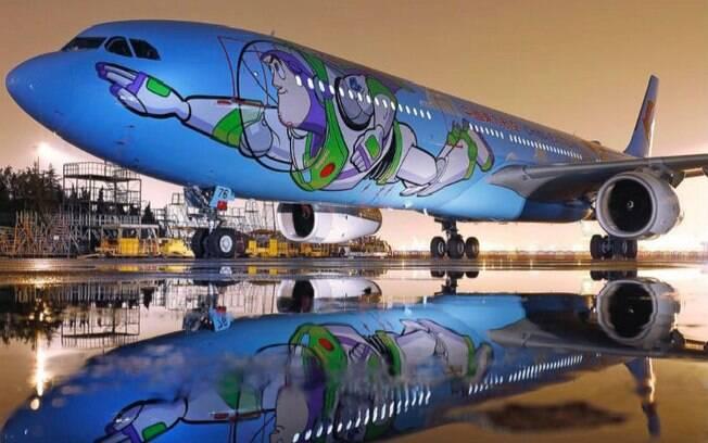 O avião de