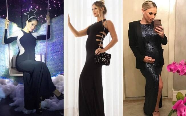 A atriz Carol Castro, a modelo Andressa Suita e a estilista Lethicia Bronstein também apostaram nos longos na gravidez