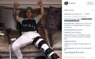Um dia após pedido de prisão, Messi aparece com mensagem cifrada em rede social - Futebol - iG