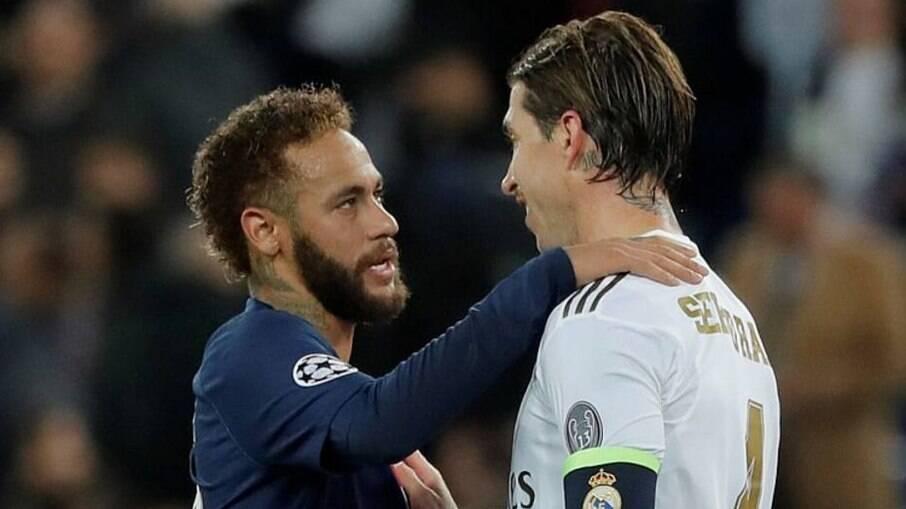 Neymar e Sérgio Ramos