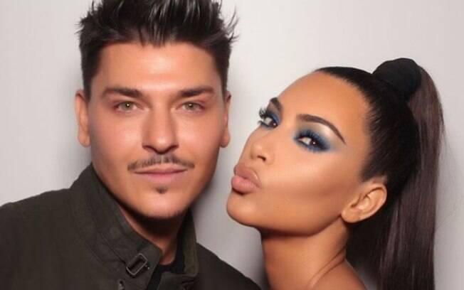 Mario Dedivanovic é conhecido por fazer a maquiagem de personalidades como Kim Kardashian e Ariana Grande
