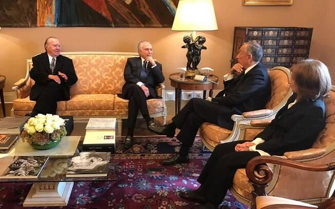 Temer se encontrou com o presidente de Portugal antes de ir ao velório de Mário Soares