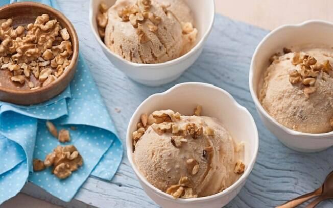 O sorvete de doce de leite é uma ótima opção refrescante
