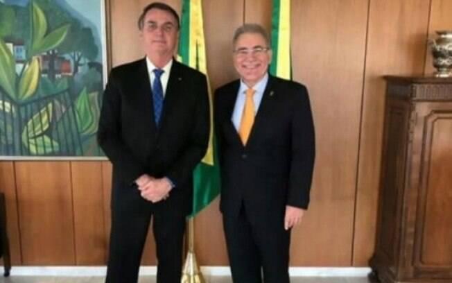 Bolsonaro e Marcelo Queiroga, novo ministro da Saúde