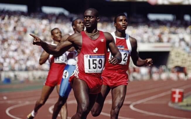 Ben Johnson - caiu no doping pela 1ª vez em  1988, por uso de esteróides, e perdeu ouro  olímpico. Foi pego de novo em 1993 e acabou  banido