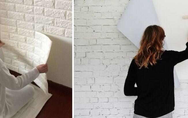 Papéis de parede texturizados são uma alternativa ao tijolo verdadeiro