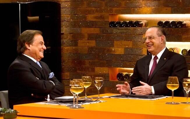 Paulo Maluf e Ronnie Von dão conselhos sentimentais no programa 'Todo Seu