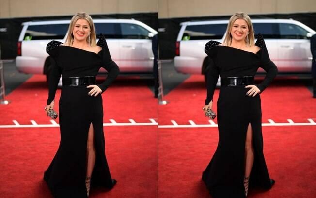 Kelly Clarkson é uma das famosas  que apareceram fashion e  arrasaram nos looks durante a semana