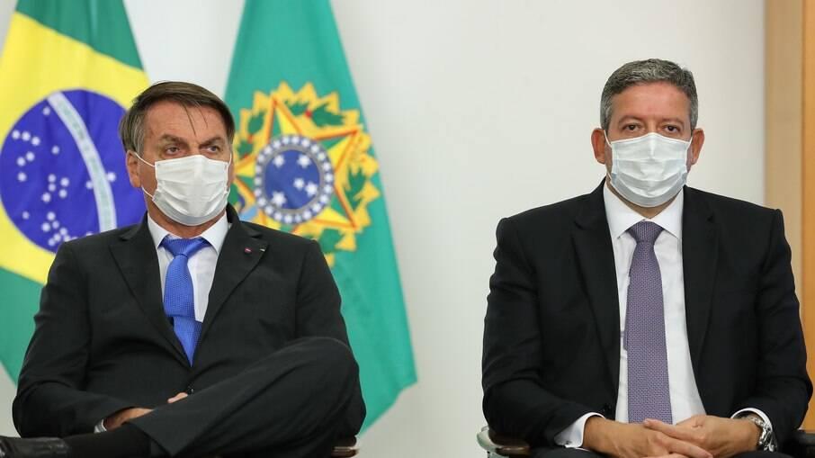 O presidente da República, Jair Bolsonaro, e o presidente da Câmara, Arthur Lira