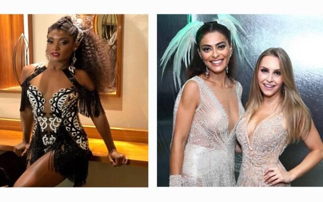 Erika Januza, Juliana Paes e Carla Diaz já vivem o carnaval 2019