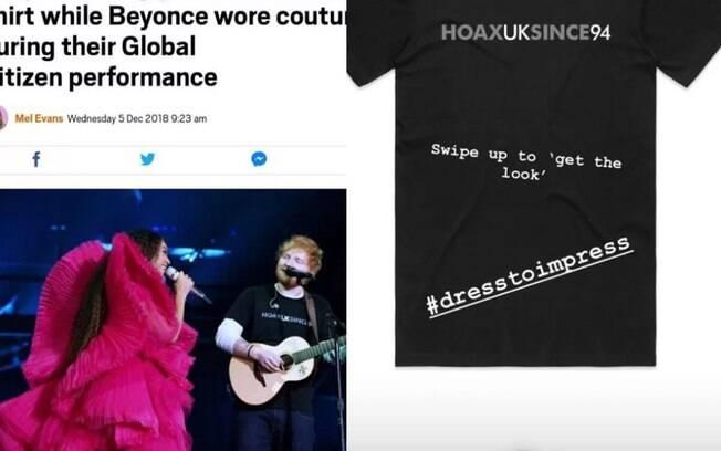 Ed Sheeran ironiza críticas por conta da sua roupa