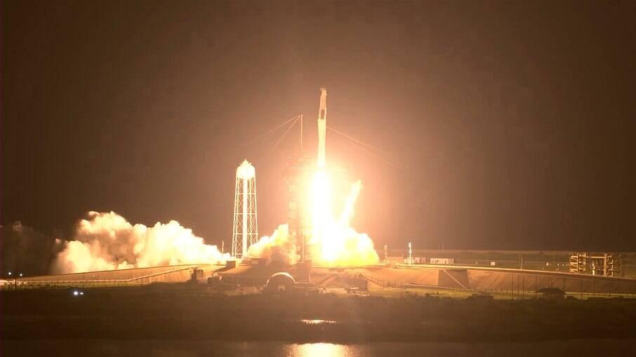 Lançamento da cápsula Crew Dragon foi a primeira do ano saindo dos EUA