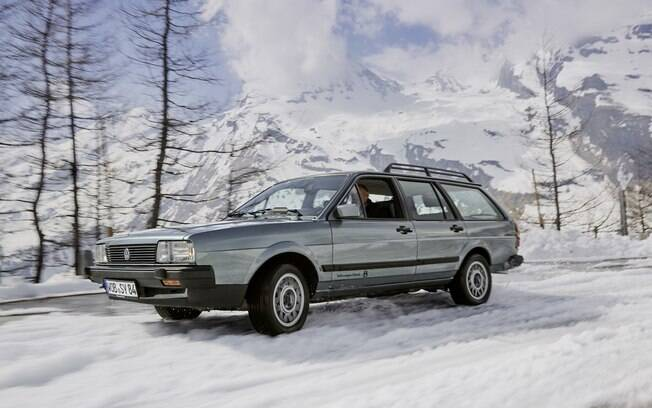 VW Passat Variant Syncro: perua com tração integral, feita para enfrentar os pisos escorregadios por causa da neve do continente europeu