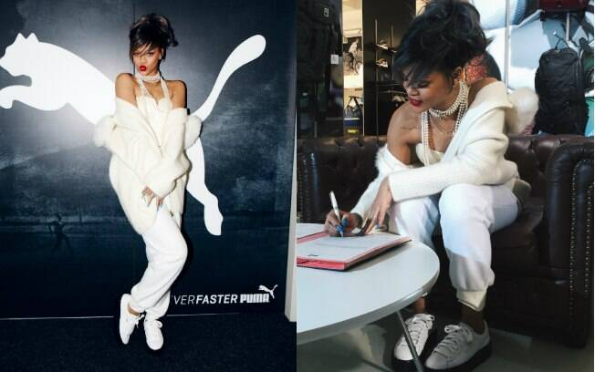 Rihanna assina com a Puma