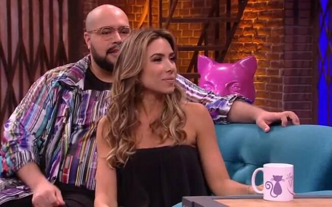 Tiago Abravanel e Patrícia Abravanel no programa