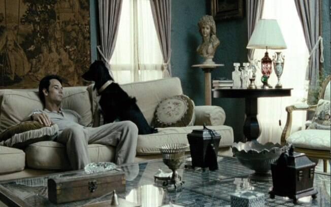 A cachorrinha bisteca em cena do filme