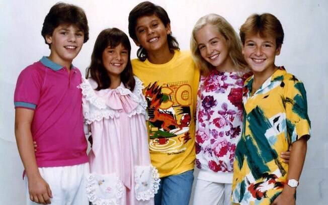 Ticiane Pinheiro, Angelica e Rodrigo Faro, quando cantavam juntos nos anos 80, no grupo Ultraleve