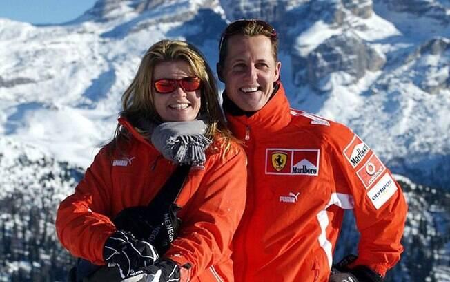 Schumacher e esposa