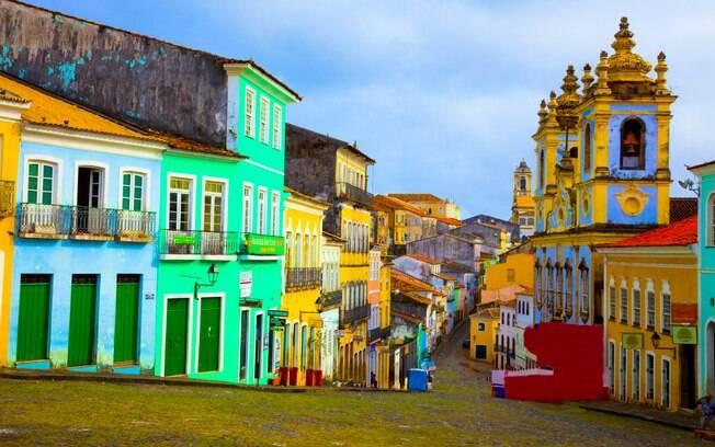 Pelourinho é um dos locais mais visitados da capital baiana