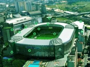 Projeto do estádio do Palmeiras que ficará pronto em julho deste ano