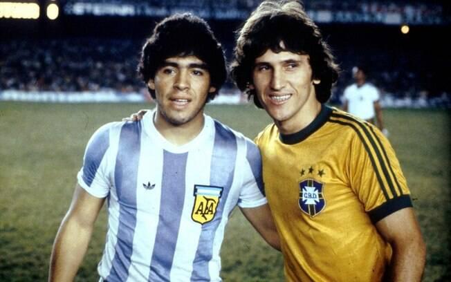 Pela seleção, Zico encontrou Maradona em  duelo contra a Argentina