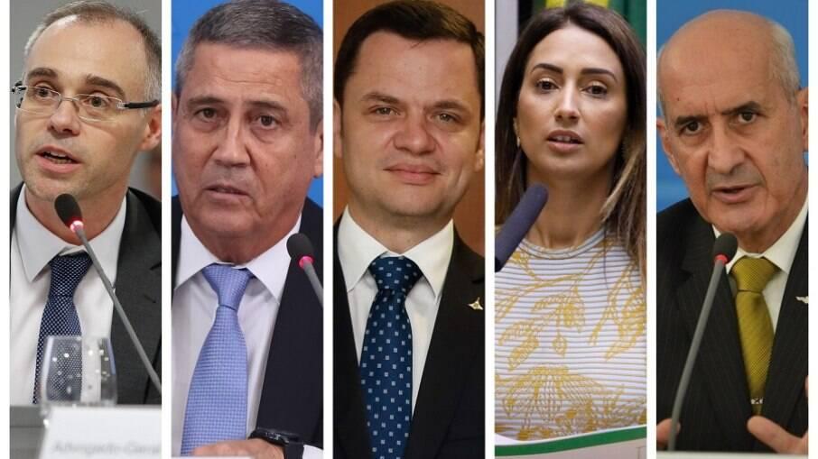 Ministros substituídos em reforma ministerial de Bolsonaro